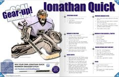 Jonathan Quick equipment guide 2010
