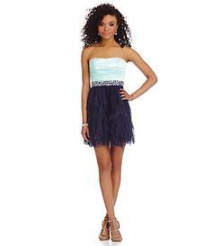 Teeze Me Jewel Belt Cork Screw Dress   Dillard's Mobile
