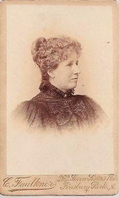 Carte De Viste Of Emily Turner 1889