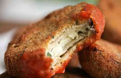 Eggplant Parm Bites Recipe - Video Recipe, Ingredients list and easy step by step instructions. Visit us online for more Tasty Recipes! Vegetarian Recipes, Cooking Recipes, Healthy Recipes, Ricotta, Eggplant Parmesan, Crispy Eggplant, Eggplant Recipes, Finger Foods, Food To Make