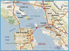 San Francisco/Oakland Metro Map - http://travelsfinders.com/san-franciscooakland-metro-map.html