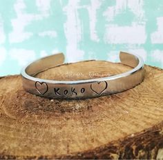 Excited to share the latest addition to my #etsy shop: Children's Bracelet, Child's Name Bracelet, Cuff Bracelet, Handstamped, Children's Jewelry, Kid's Bracelet, Kid's Jewelry, Heart Bracelet #jewelry #bracelet #silver #aluminum #yes #girls #birthday #cuff #heartjewelry