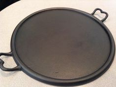Most likely was made for a wood burning stove. Cast Iron Griddle, Cast Iron Pot, Cast Iron Skillet, Cast Iron Cooking, Cast Iron Cookware, It Cast, Skillets, Griddles, Hope Chest