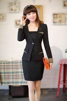 Tailleur jupe costume ensemble de carrière des femmes tailleurs pour dames et jupe de travail d'été costumes de taille plus xxl, livraison gratuite
