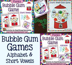 Fun activities for learning the alphabet and short vowel sounds!