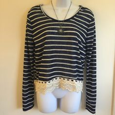Brand new cute top with lace hem line. Firm unless bundled. Thank you. Rue 21 Tops Blouses