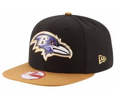 timeless design d8e13 ee2f1 New Era Baltimore Ravens Gold Collection 9Fifty Snapback - Black Gold  Baltimore Ravens Hat,