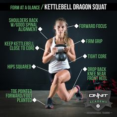 The Kettlebell Dragon Squat is a unique exercise that requires more hip flexibility, balance, and coordination than your standard Kettlebell... Circuit Kettlebell, Kettlebell Challenge, Kettlebell Swings, Kettlebell Deadlift, Trx, Crossfit, Fitness Tips, Fitness Motivation, Nerd Fitness