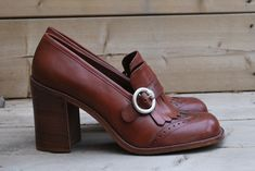 Seventies shoes - I had a pair almost identical to these in high school.  I think they made about 6'4""