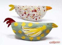 MollyMooCrafts Paper Plate Crafts for Kids - Chickens