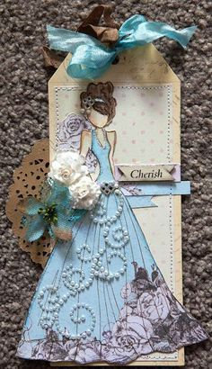 Prima Doll Stamp tag