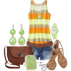 """""""Summer Shorts and Tank Contest"""" by traceyj12 on Polyvore"""