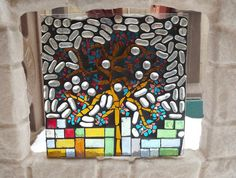 Glass Mosaic Tree of Life Window Panel by PiecesofhomeMosaics, $75.00