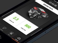 Car APP-Engine Data designed by GSD. Car App, Toyota Cars, Gauges, Engineering, Toyota Trucks, Ears Piercing, Technology