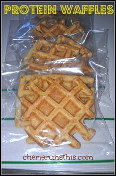 PROTEIN WAFFLES ½ cup old fashioned oats ½ cup low fat cottage cheese 2 eggs ½ tsp vanilla ½ tsp baking powder ½ tsp cinnamon Dash of salt {optional}