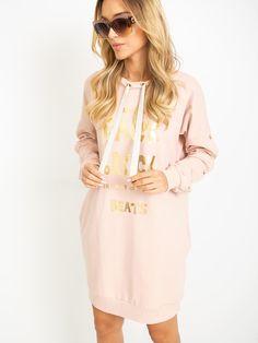 Krásne športové šaty vo farbe púdrovo-ružovej Cover Up, Rock, Sweaters, Dresses, Fashion, Vestidos, Moda, Fashion Styles, Skirt