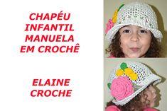 CHAPÉU INFANTIL MANUELA EM CROCHÊ