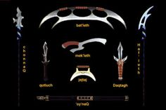klingon | the qutluch is the traditonal weapon of the klingon assassin since ...