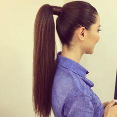 Ponytail Hairstyles, Pearl Earrings, Hair Styles, Fashion, Hair Plait Styles, Moda, Pearl Studs, Fashion Styles, Hair Makeup