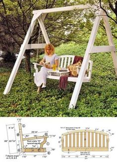 Garden Swing Plans - Outdoor Furniture Plans and Projects   WoodArchivist.com