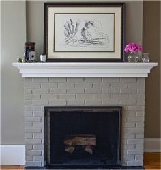 Painted Fireplace just in a different color