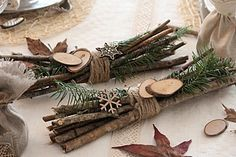 Décoration de Noël naturelle #Table de Noël