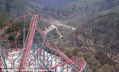 World's tallest roller coaster opens in  Adventure Park in Glenwood Springs, Colorado. It is set on a base elevation of 7,000 feet, making it the highest roller coaster in the world. Named 'Cliffhanger', the ride is literally perched atop an Iron Mountain cliff, overlooking the city and offering glimpses of spectacular scenery. via dailymail.co.uk