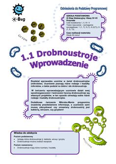 drobnoustrojów - e-Bug Book Reports, Term Paper, Research Paper, Politics, Bullet Journal, Science, Book Reviews