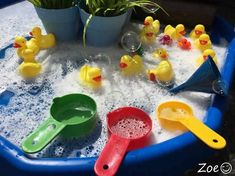 Fun on the Farm Themed Tuff Tray Resources and Ideas - Ducks on the Farm Tuff Tray Small World Scene for Toddlers-EYFS Children - Nursery Activities, Rhyming Activities, Farm Activities, Animal Activities, Easter Activities, Spring Activities, Infant Activities, Water Tray Ideas Eyfs, Tuff Tray Ideas Toddlers
