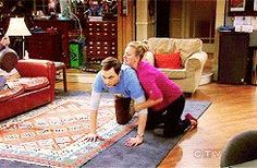 """Penny wrestling Sheldon 