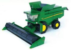 Tractor And Grain Harvester Paper Models - by John Deere Brazil - == -  From John Deere`s Brazilian website, here are two really nice paper models of a Tractor and a Grain Harvester, that are not hard to build.