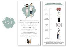 Cool wedding invitations by Blanka Biernat
