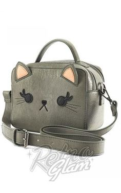 Loungefly Grey Cat Crossbody Bag Side