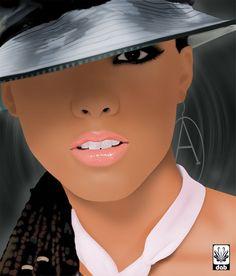 Pintura Digital - Alicia Keys Photoshop