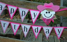 Cowgirl Party Banner