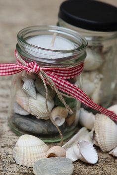 we all are dancers: Muscheln im Gläschen :: Treasure Glas (Diy Candles)