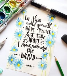#calligraphy #typography #christian #bibleverse #brushcallighraphy #watercolor #lettering #flowers #floral