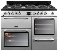 Leisure Cookmaster Dual Fuel range cooker silver CK110F232S 110cm