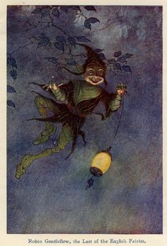 """""""Robin Goodfellow, the Last of the English Fairies"""" by Charles Folkard"""