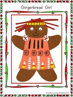 Our Favorite Gingerbread Friends Draw and Write Class Book Packet FREE