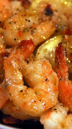 Lemon Butter Baked Shrimp