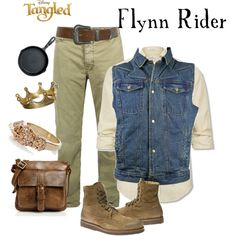 Flynn Rider, created by marybethschultz Tangled Flynn Rider, Shoe Bag, Polyvore, Collection, Shopping, Design, Women, Fashion, Moda