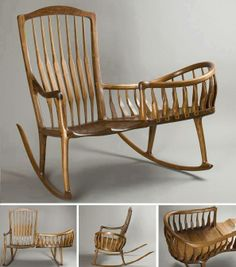 Rocking chair - How nice is this? The mother can rock and crochet or knit or read, and rock her baby too.