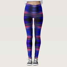 Colourful stripes pattern leggings