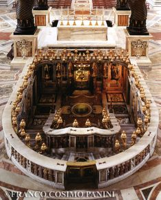 The Confessio, St Peter's Basilica Vatican City - St Peter's tomb is behind the niche. It's hard to see but there are steps that lead down about 6-8 feet under the ground level.