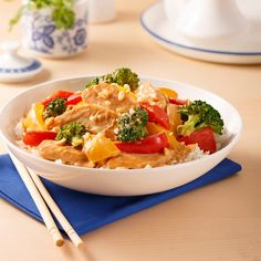 Sauté de poulet aux arachides What To Cook, Thai Red Curry, Risotto, Macaroni And Cheese, Chicken Recipes, Portion, Ethnic Recipes, What's Cooking, Food