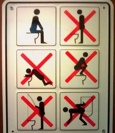 Just so there's no confusion here... ( I need this for my house, I mean why can't guys pee sitting down?!)