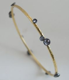 Tap by Todd Pownell Bracelet   (silver, 18k, gold, diamonds)