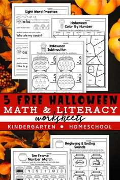 These free kindergarten worksheets for kindergarten were a great addition in my classroom. The set includes kindergarten sight words, addition worksheets, counting activities, and more. The kindergarten math worksheets are so fun and include so many cute graphics, just like a game. The Halloween printables activities can be used during homeschool, or in the classroom for kindergarten and first grade students. #kindergartenclassroom #halloweenactivities Thanksgiving Worksheets, Halloween Worksheets, Halloween Math, Halloween Activities, Holiday Activities, Free Kindergarten Worksheets, Free Teaching Resources, Free Worksheets, Teaching Ideas