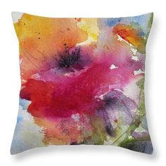 Iceland Poppy Throw Pillow by Anne Duke